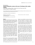 """Báo cáo khoa học: """"French multicentre survey on the use of inotropes after cardiac surgery"""""""