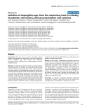"""Báo cáo khoa học: """"Isolation of Aspergillus spp. from the respiratory tract in critically ill patients: risk factors, clinical presentation and outcome"""""""