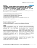 "Báo cáo khoa học: "" Decreased duration of mechanical ventilation when comparing analgesia-based sedation using remifentanil with standard hypnotic-based sedation for up to 10 days in intensive care unit patients: a randomised trial [ISRCTN47583497]"""