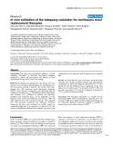 """Báo cáo khoa học: """" In vivo validation of the adequacy calculator for continuous renal replacement therapies"""""""