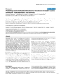 """Báo cáo khoa học: """"Pulse high-volume haemofiltration for treatment of severe sepsis: effects on hemodynamics and survival"""""""