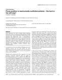 """Báo cáo khoa học: """" Prone position in mechanically ventilated patients – the hard or the soft way"""""""