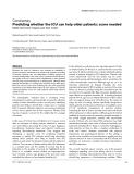 """Báo cáo khoa học: """"Predicting whether the ICU can help older patients: score needed"""""""