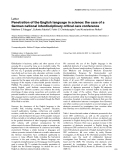 """Báo cáo khoa học: """" Penetration of the English language in science: the case of a German national interdisciplinary critical care conference"""""""