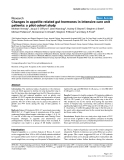 "Báo cáo khoa học: ""Changes in appetite related gut hormones in intensive care unit patients: a pilot cohort study"""
