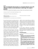 """Báo cáo khoa học: """"Use of prophylactic fluconazole in a neonatal intensive care unit: efficacy is similar to that described in adult high-risk surgical patients"""""""