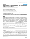 """Báo cáo khoa học: """" A Clinical relevance of Aspergillus isolation from respiratory tract samples in critically ill patients"""""""