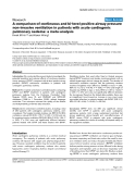 """Báo cáo y học: """"A comparison of continuous and bi-level positive airway pressure non-invasive ventilation in patients with acute cardiogenic pulmonary oedema: a meta-analysis"""""""