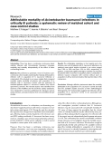 """Báo cáo y học: """"Attributable mortality of Acinetobacter baumannii infections in critically ill patients: a systematic review of matched cohort and case-control studies"""""""
