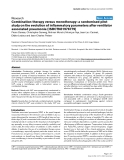 """Báo cáo y học: """"Combination therapy versus monotherapy: a randomised pilot study on the evolution of inflammatory parameters after ventilator associated pneumonia [ISRCTN31976779]"""""""