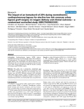 """Báo cáo y học: """"Ethics review: The impact of an hematocrit of 20% during normothermic cardiopulmonary bypass for elective low risk coronary artery bypass graft surgery on oxygen delivery and clinical outcome – a randomized controlled study [ISRCTN35655335]"""""""