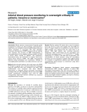 "Báo cáo y học: ""Arterial blood pressure monitoring in overweight critically ill patients: invasive or noninvasive"""