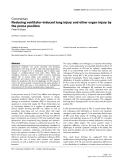 "Báo cáo y học: "" Reducing ventilator-induced lung injury and other organ injury by the prone position"""