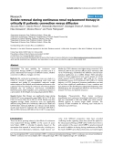 """Báo cáo y học: """"Solute removal during continuous renal replacement therapy in critically ill patients: convection versus diffusion"""""""