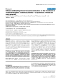 """Báo cáo y học: """"Efficacy and safety of non-invasive ventilation in the treatment of acute cardiogenic pulmonary edema – a systematic review and meta-analysis"""""""