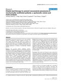 "Bóa cáo y học: ""Kinetic bed therapy to prevent nosocomial pneumonia in mechanically ventilated patients: a systematic review and meta-analysi"""
