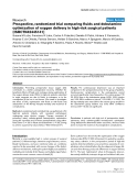 """Bóa cáo y học: """"Prospective, randomized trial comparing fluids and dobutamine optimization of oxygen delivery in high-risk surgical patients [ISRCTN42445141]"""""""