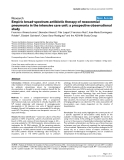 """Bóa cáo y học: """" Empiric broad-spectrum antibiotic therapy of nosocomial pneumonia in the intensive care unit: a prospective observational study"""""""