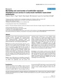 "Báo cáo y học: "" Morbidity and cost burden of methicillin-resistant Staphylococcus aureus in early onset ventilator-associated pneumonia"""