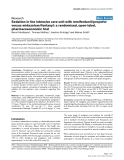 """Báo cáo y học: """"Sedation in the intensive care unit with remifentanil/propofol versus midazolam/fentanyl: a randomised, open-label, pharmacoeconomic trial"""""""