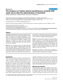 "Báo cáo y học: "" The incidence of relative adrenal insufficiency in patients with septic shock after the administration of etomidate"""