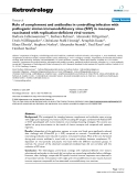 """Báo cáo y học: """"Role of complement and antibodies in controlling infection with pathogenic simian immunodeficiency virus (SIV) in macaques vaccinated with replication-deficient viral vectors"""""""