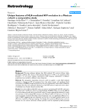 "Báo cáo y học: "" Unique features of HLA-mediated HIV evolution in a Mexican cohort: a comparative study"""