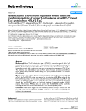 """Báo cáo y học: """" Identification of a novel motif responsible for the distinctive transforming activity of human T-cell leukemia virus (HTLV) type 1 Tax1 protein from HTLV-2 Tax2"""""""
