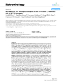 "Báo cáo y học: "" Biochemical and virological analysis of the 18-residue C-terminal tail of HIV-1 integrase"""