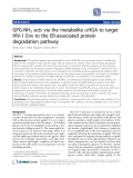 """Báo cáo y học: """"GPG-NH2 acts via the metabolite aHGA to target HIV-1 Env to the ER-associated protein degradation pathway"""""""