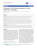 """Báo cáo y học: """"Genotypic and functional properties of early infant HIV-1 envelop"""""""