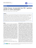 "Báo cáo y học: ""Cellular kinases incorporated into HIV-1 particles: passive or active passenger"""