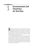 Environmental Soil Chemistry - Chapter 1