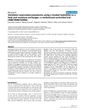"Báo cáo khoa học: "" Ventilator-associated pneumonia using a heated humidifier or a heat and moisture exchanger: a randomized controlled trial [ISRCTN88724583]"""