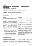 """Báo cáo khoa học: """" Equipment review: Cooling catheters to induce therapeutic hypothermia"""""""