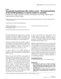 """Báo cáo khoa học: """"Therapeutic hypothermia after cardiac arrest – the implementation of the ILCOR guidelines in clinical routine is possible"""""""