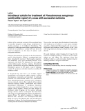 """Báo cáo khoa học: """" Intrathecal colistin for treatment of Pseudomonas aeruginosa ventriculitis: report of a case with successful outcome"""""""