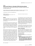 """Báo cáo khoa học: """"Acute renal failure in critically ill HIV-infected patients"""""""
