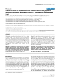 """Báo cáo khoa học: """"Effect of mode of hydrocortisone administration on glycemic control in patients with septic shock: a prospective randomized trial"""""""