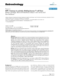 Retrovirology Research  BioMed Central  Open Access  HIV-1 latency in actively dividing human T cell