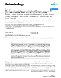 "Báo cáo y học: ""Nef does not contribute to replication differences between R5 pre-AIDS and AIDS HIV-1 clones from patient ACH142"""