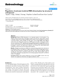 "Báo cáo y học: "" Regulation of primate lentiviral RNA dimerization by structural entrapment"""