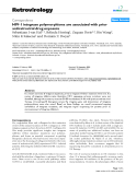 """Báo cáo y học: """"HIV-1 integrase polymorphisms are associated with prior antiretroviral drug exposure"""""""