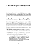 Speech recognition using neural networks - Chapter 2