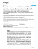 """Báo cáo y học: """"Comparison of cough reflex sensitivity after an inhaled antigen challenge between actively and passively sensitized guinea pigs"""""""