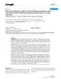 "Báo cáo y học: ""Chronic productive cough in school children: prevalence and associations with asthma and environmental tobacco smoke exposur"""