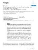 """Báo cáo y học: """"Establishing a gold standard for manual cough counting: video versus digital audio recording"""""""