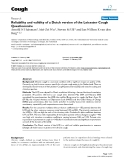 "Báo cáo y học: ""Reliability and validity of a Dutch version of the Leicester Cough Questionnaire"""
