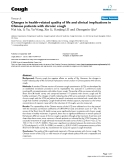 "Báo cáo y học: "" Changes in health-related quality of life and clinical implications in Chinese patients with chronic cough"""