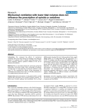 """Báo cáo y học: """"Mechanical ventilation with lower tidal volumes does not influence the prescription of opioids or sedatives"""""""